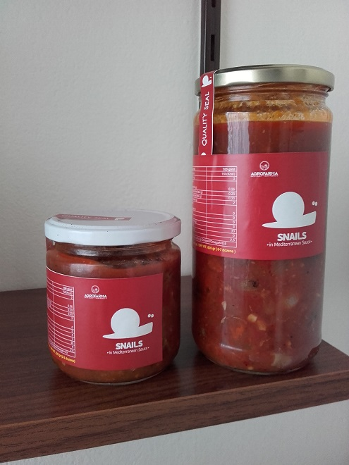 Canned Snails in Traditional Mediterranean sauce
